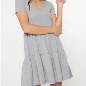 Gray babydoll dress